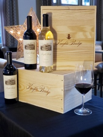Knights Bridge Vineyard Collection Three Bottle Wooden Box Set